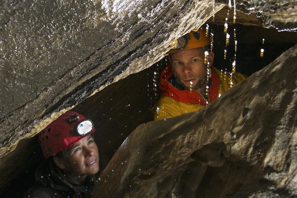 Führung durch die Spannagelhöhle am Hintertuxer Gletscher